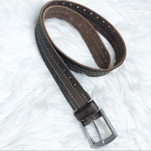 Men's Brown Leather Fossil belt sz 34 mint cond